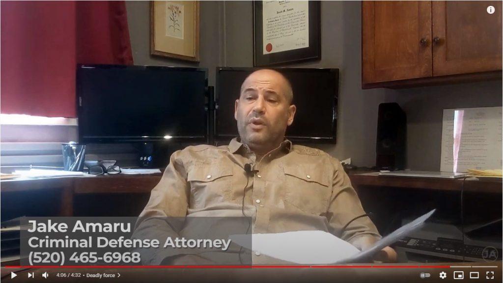 Jake Amaru about the self-defense justification under ARS 13-404